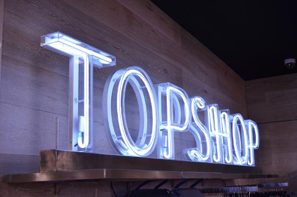 Topshop Neon Sign, Brisbane Store, 2014
